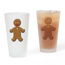 Gingerbread man Drinking Glass