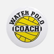 Water Polo Coach Ornament (Round)
