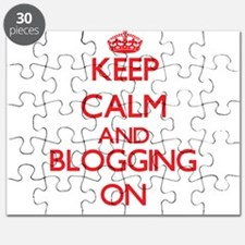 Keep calm and Blogging ON Puzzle