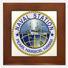 Naval Station Pearl Harbor Framed Tile