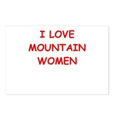 mountain woman Postcards (Package of 8)