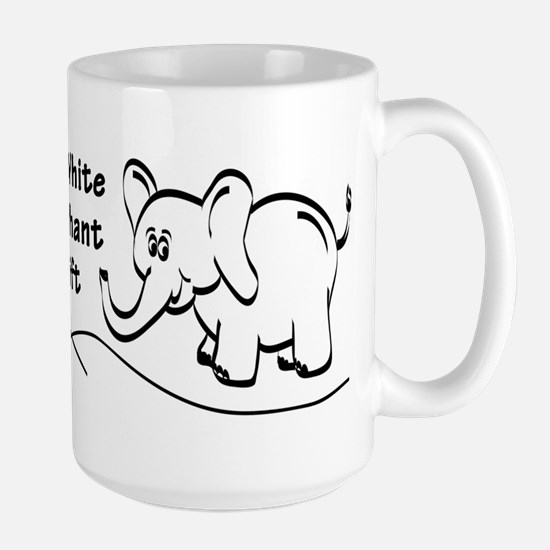 My White Elephant Gift Large Mug Mugs