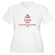 Keep calm and Computer Programmi Plus Size T-Shirt
