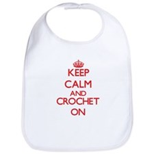 Keep calm and Crochet ON Bib