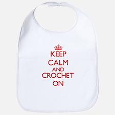 Keep calm and Crochet ON Bib