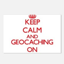 Keep calm and Geocaching Postcards (Package of 8)