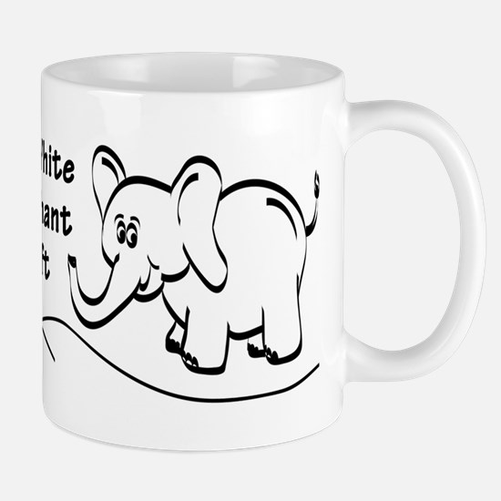 My White Elephant Gift Signature Mug Mugs