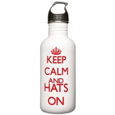 Keep calm and Hats ON Water Bottle