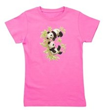 Cute Panda bears Girl's Tee