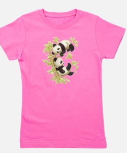 Unique Childrens panda Girl's Tee