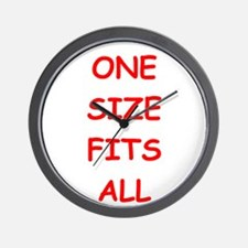 one size fits all Wall Clock