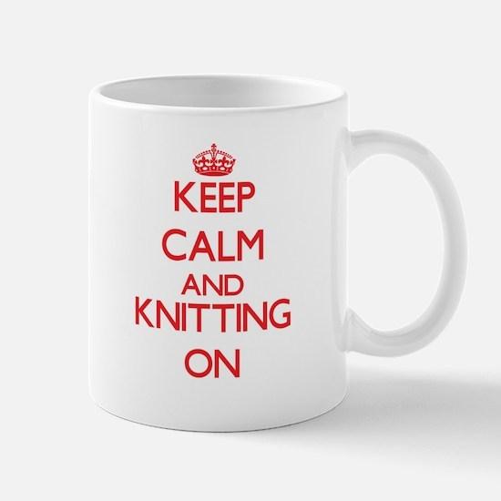 Keep calm and Knitting ON Mugs