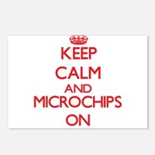 Keep calm and Microchips Postcards (Package of 8)