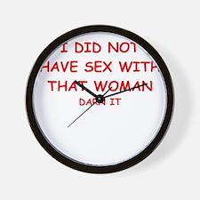 sex joke Wall Clock