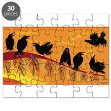 Ruffled Ravens Sing Puzzle