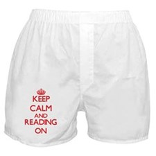 Keep calm and Reading ON Boxer Shorts