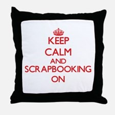 Keep calm and Scrapbooking ON Throw Pillow