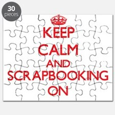 Keep calm and Scrapbooking ON Puzzle