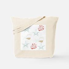 Starfish Seashells Pattern Tote Bag