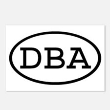 DBA Oval Postcards (Package of 8)