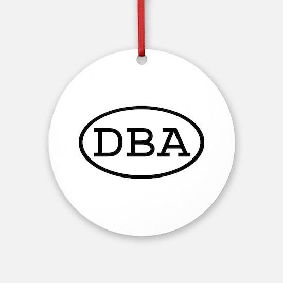 DBA Oval Ornament (Round)