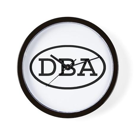 DBA Oval Wall Clock