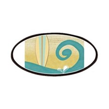 Sandy Beach Wave Surfboard Patches