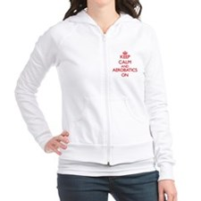 Keep calm and Aerobatics ON Fitted Hoodie