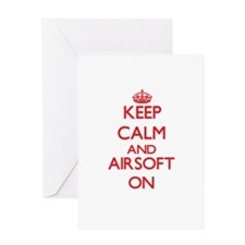 Keep calm and Airsoft ON Greeting Cards