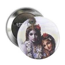 Divine Radha Krishna All-Attractive Couple Button