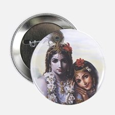 Divine Radha Krishna All-Attractive Couple Button