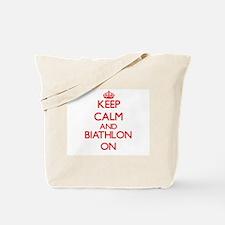 Keep calm and Biathlon ON Tote Bag