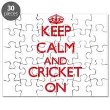 Keep calm and Cricket ON Puzzle