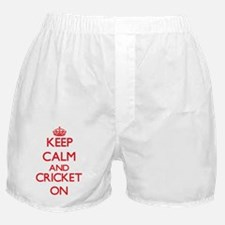 Keep calm and Cricket ON Boxer Shorts