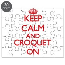 Keep calm and Croquet ON Puzzle