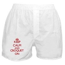 Keep calm and Croquet ON Boxer Shorts