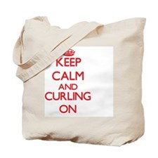 Keep calm and Curling ON Tote Bag