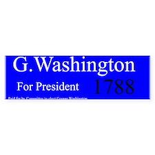 George Washington For President Bumper Bumper Sticker