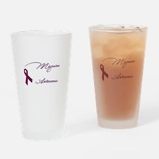 Unique Migraine awareness Drinking Glass