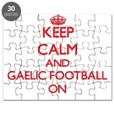 Keep calm and Gaelic Football ON Puzzle