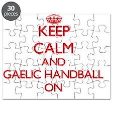 Keep calm and Gaelic Handball ON Puzzle