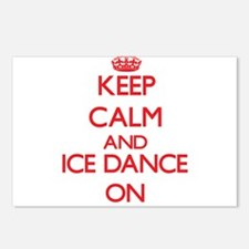 Keep calm and Ice Dance O Postcards (Package of 8)