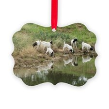 Kid Goats Playing Ornament