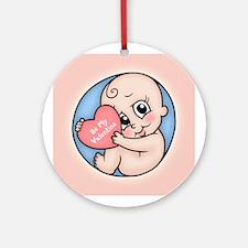 Valentine Baby Ornament (Round)
