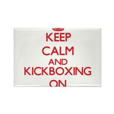 Keep calm and Kickboxing ON Magnets
