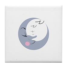 Sleepy Moon Tile Coaster