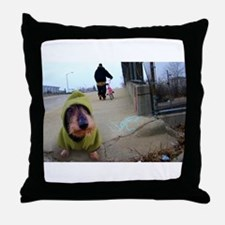 Dogz In the Hood Throw Pillow