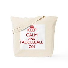 Keep calm and Paddleball ON Tote Bag