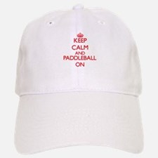 Keep calm and Paddleball ON Baseball Baseball Cap