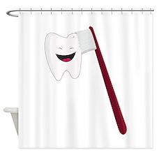 Brush Teeth Shower Curtain
